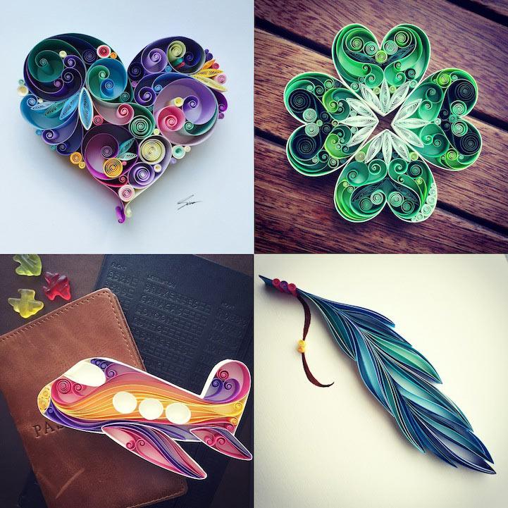 Artista deja su trabajo de todos los días para inventar bonito arte de papel
