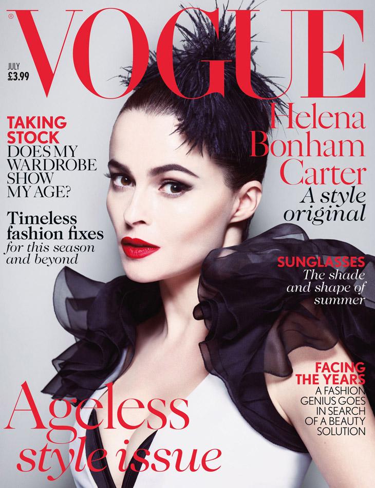 Helena Bonham Carter Vogue UK July 2013 Cover | The Non-Blonde