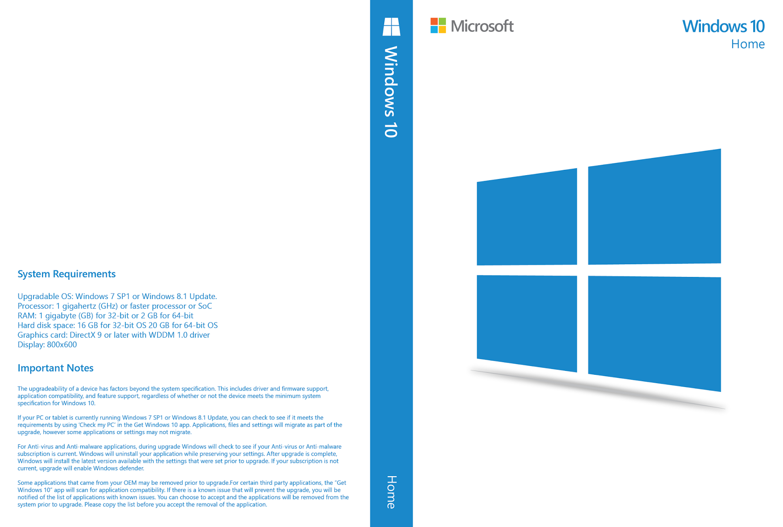 Download Windows 10 Home & Pro x32 PT-BR Download Windows 10 Home & Pro x32 PT-BR Cover HOME