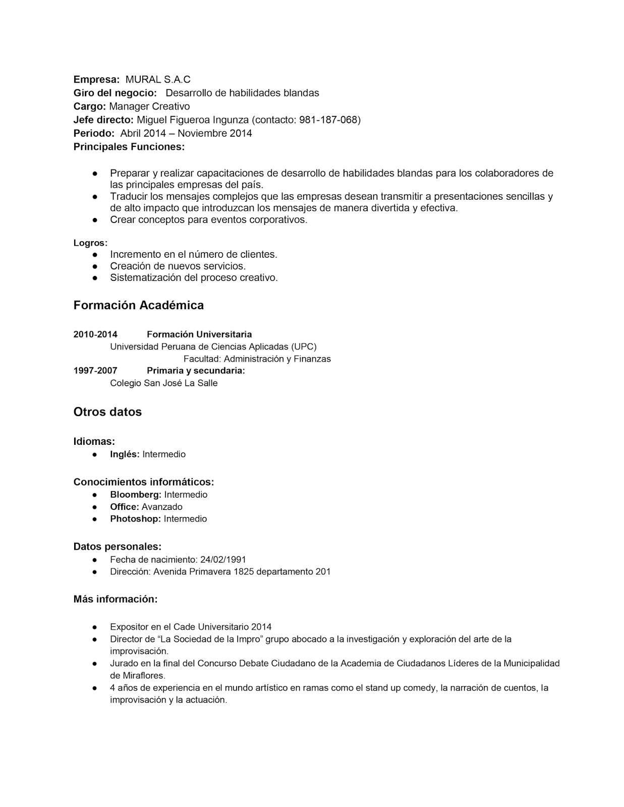 Dorable Habilidades De Administración Reanudar Ejemplos ...