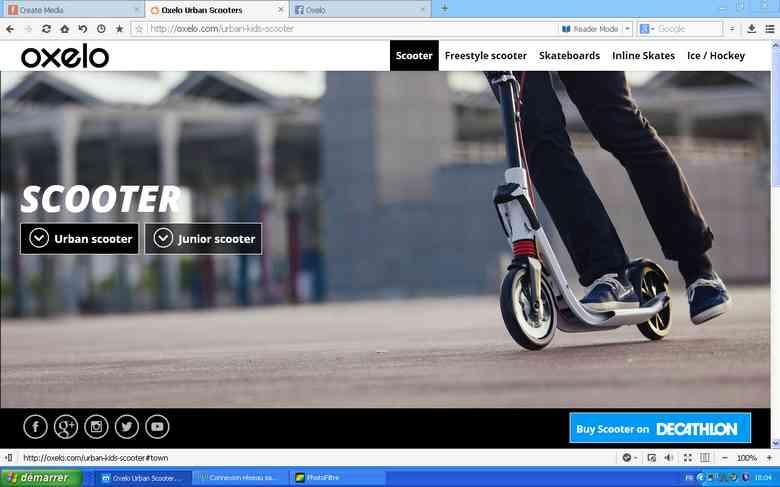 nouveau site officiel OXELO