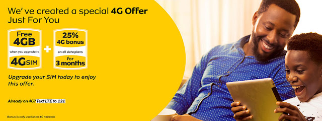 MTN free 4GB reward including 25% 4G bonus for 3 months 2