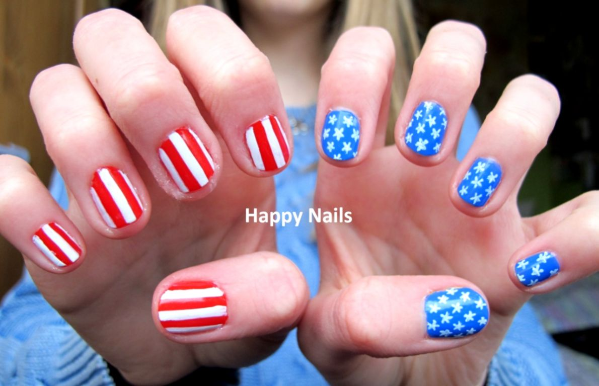 Red Nails American Flag Design Change American Flag New Design - American Flag Nail Art Photo Silver Wallpapers