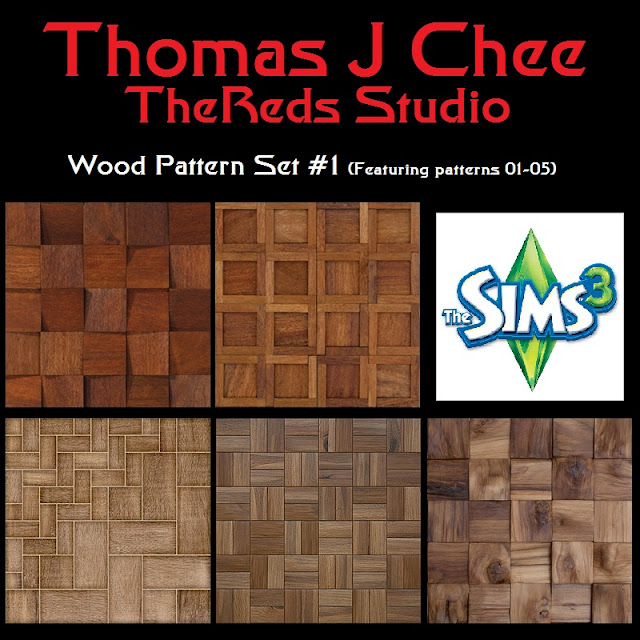 http://thomasjchee.blogspot.com.au/p/ts3-custom-content-wood-pattern-set-1.html