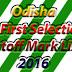 Odisha +2 e-Admission First Selection Merit List 2016