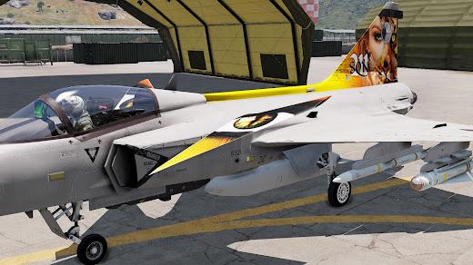 Arma3へ虎スキンのJAS 39 Gripenを追加するアドオン
