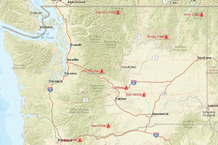 Washington Smoke Information 8 14 2017 Fires In Washington Update