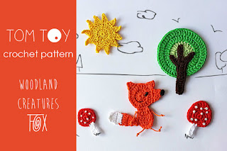 Woodland creatures fox crochet pattern