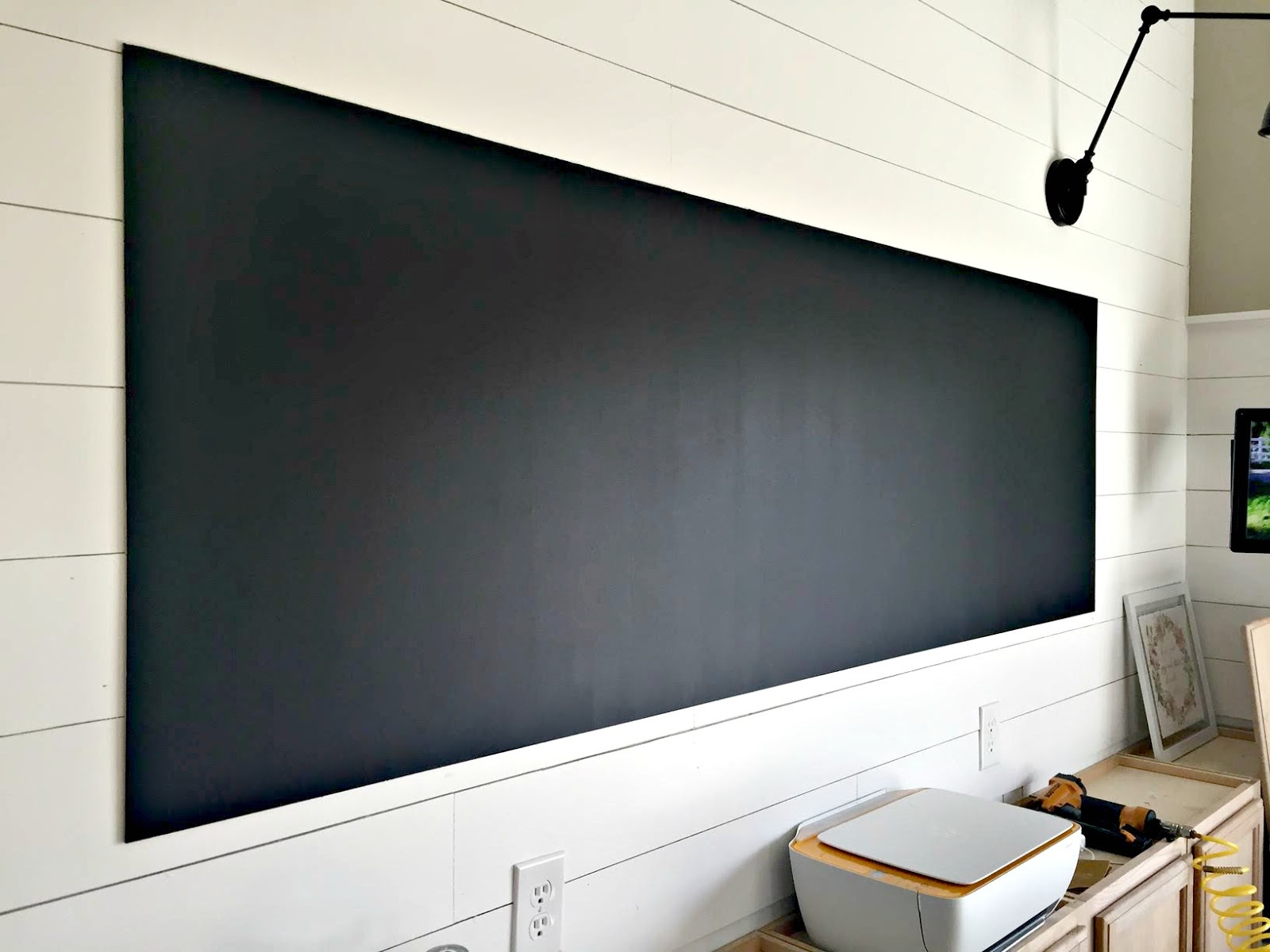 Chalkboard How To Make A Giant Diy Chalkboard From Thrifty Decor Chick