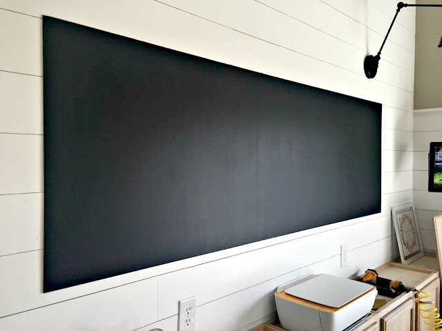 DIY chalkboard with paint