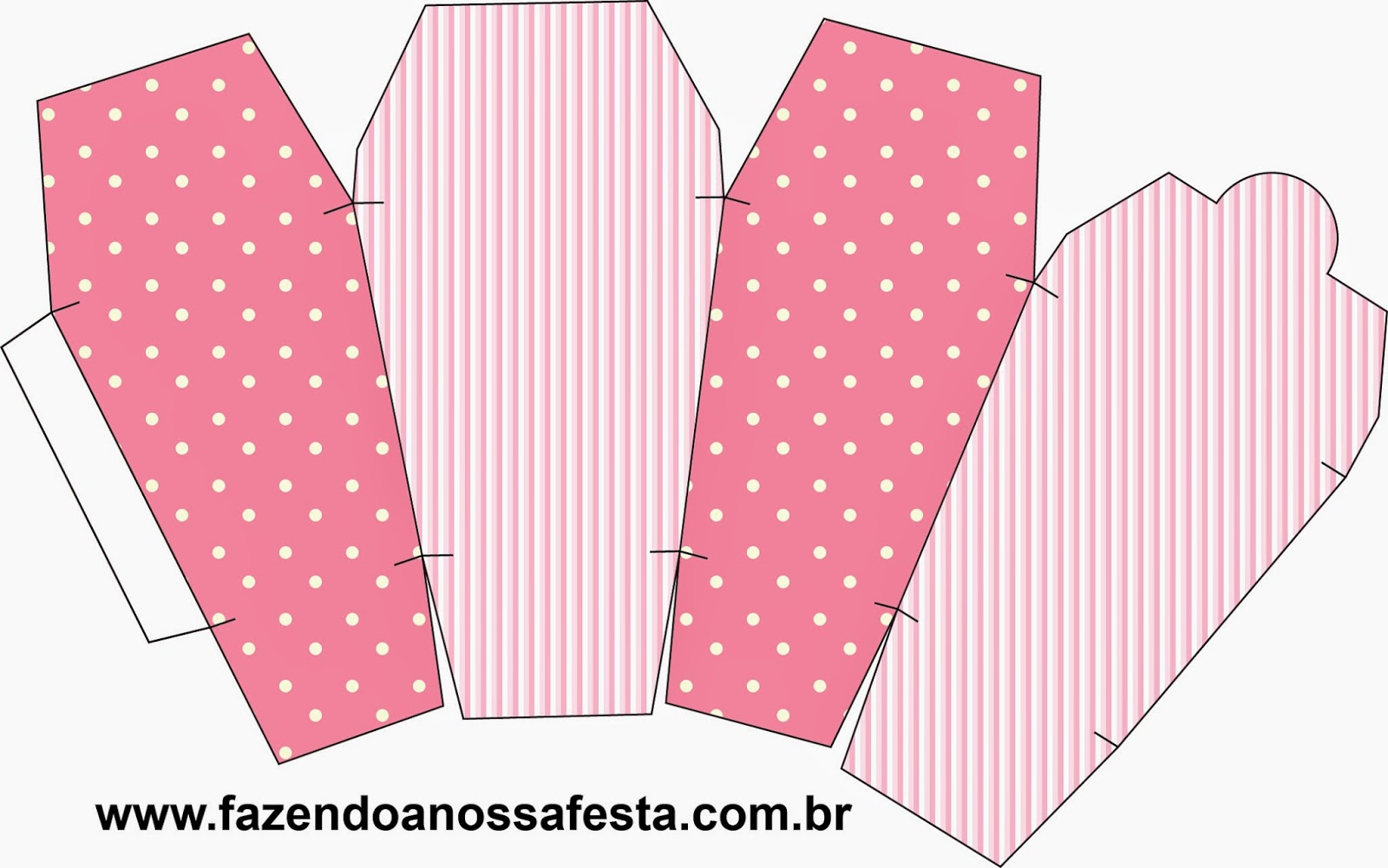 Pink and White Stripes and Polka Dots Free Printables Boxes. | Oh My ...
