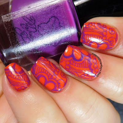 INM-Out-the-Door-LeeLoo-Moonflower-Polish-Violeta-nail-stamping-2