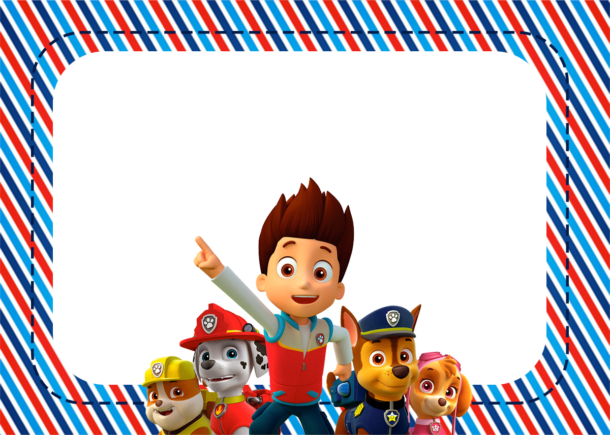 Paw Patrol: Free Printable Invitations. | Oh My Fiesta! in ...