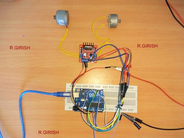 Prototype of L298N DC Motor Driver Module using Arduino