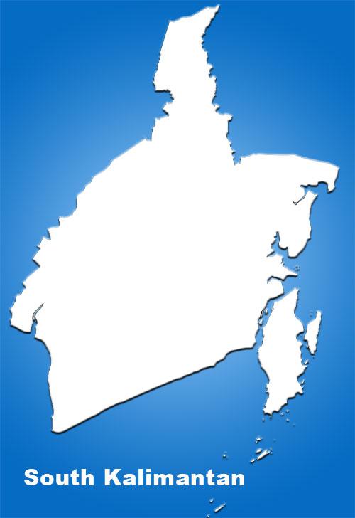 image: South Kalimantan blank map