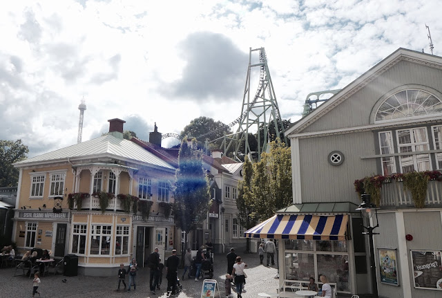 Photo of Main Street and Helix Roller Coaster at Liseberg