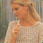 Jersey en beige a Crochet