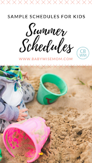 Sample Summer Schedules for Kids