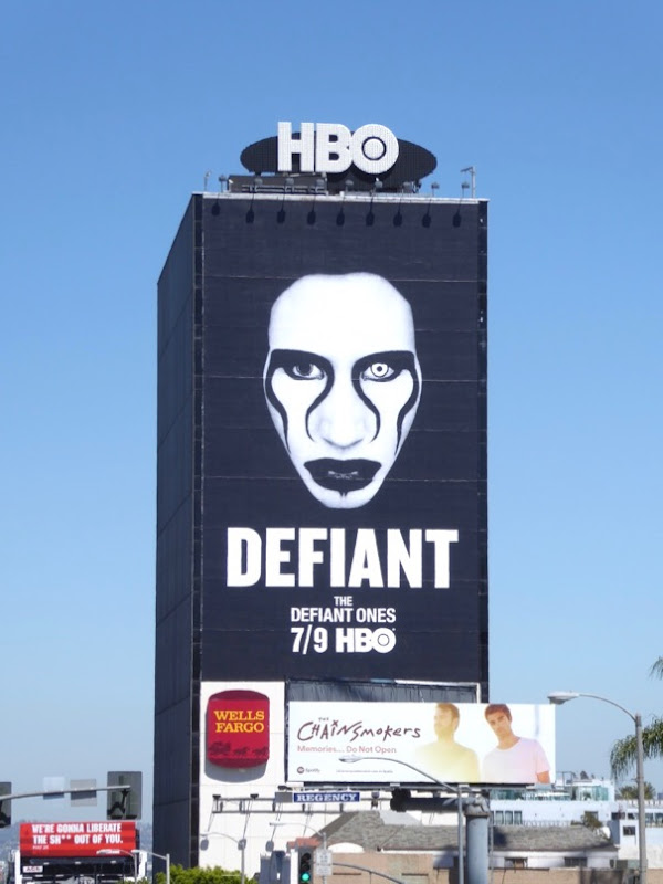 Giant Marilyn Manson Defiant Ones billboard