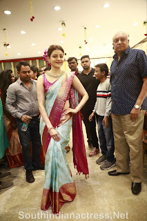 indian 2 tamil movie actress kajal agarwal grand launch of vidhatri shopping mall event Pictures 10