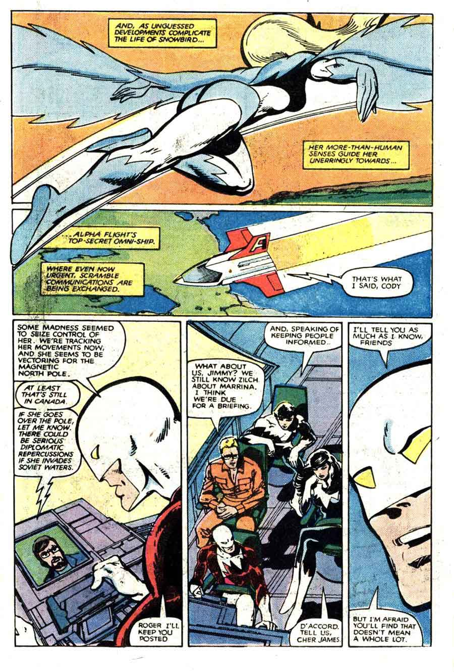 Alpha Flight v1 #2 marvel comic book page art by John Byrne