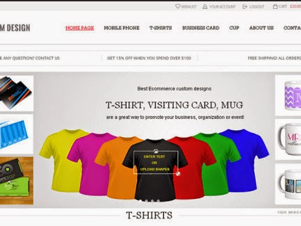 PHP Custom T-shirt Script, Custom Design T-shirt Software, Custom