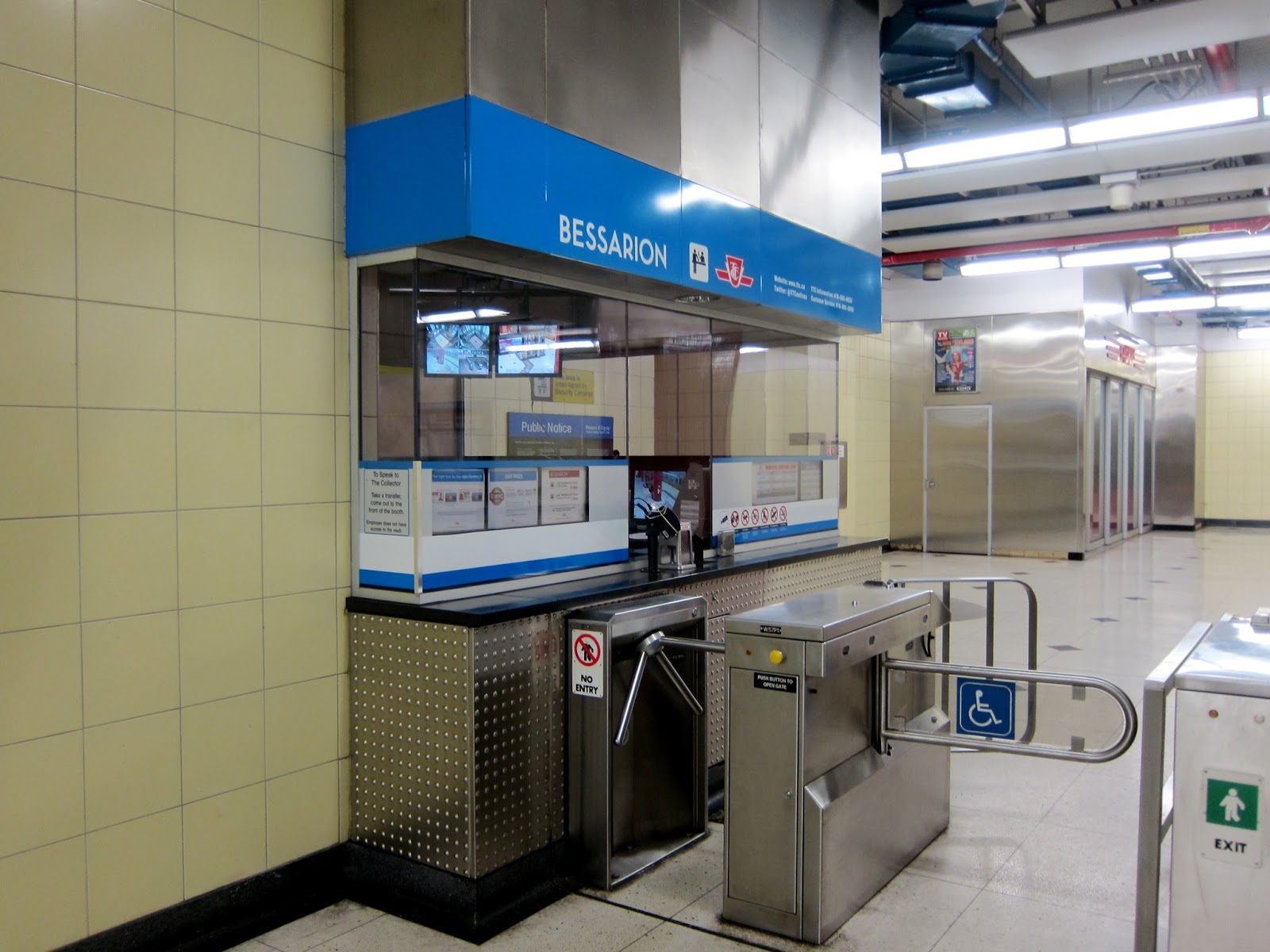 Bessarion station fare collector booth
