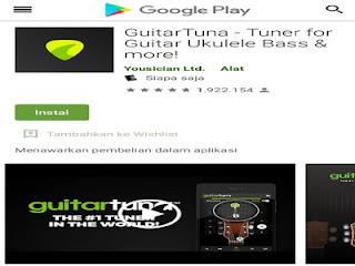 GuitarTuna – aplikasi tuner gitar untuk pemula saat tuning nada yang benar