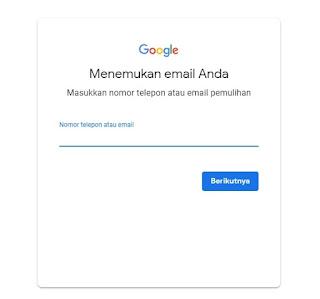 Cara Memulihkan Account Email Google yang Lupa Kata Sandi