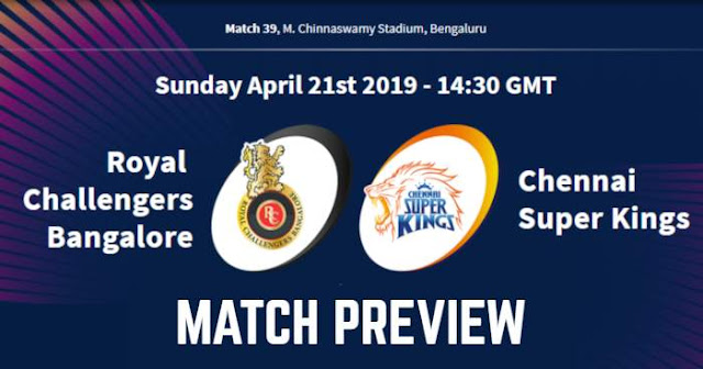 VIVO IPL 2019 Match 39 RCB vs CSK Match Preview, Head to Head and Trivia