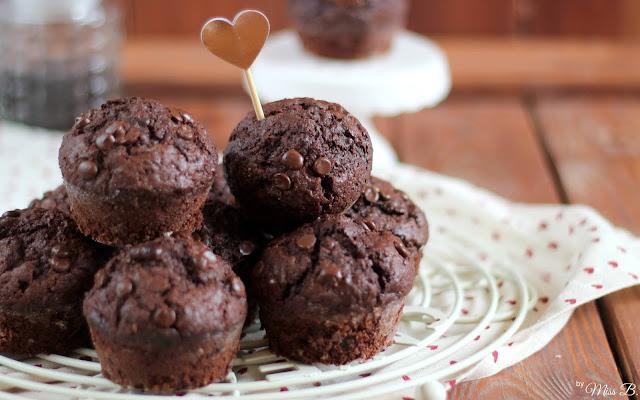 Die besten Schokoladen-Muffins (Super saftig!)