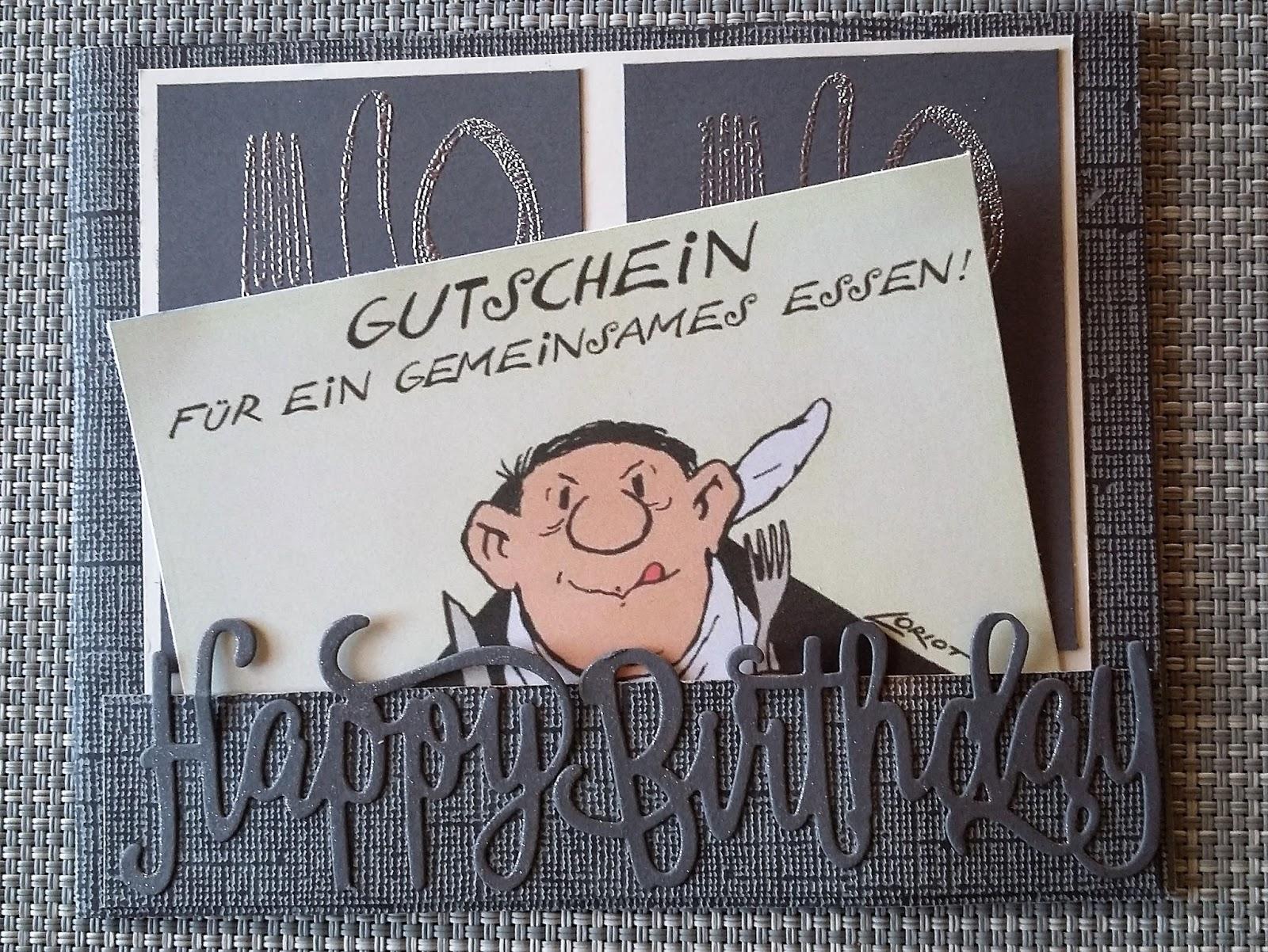 Bastelkrimskrams: Gutscheinkarte für den Mann