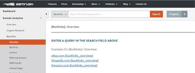 semrush - free online backlink checker tool