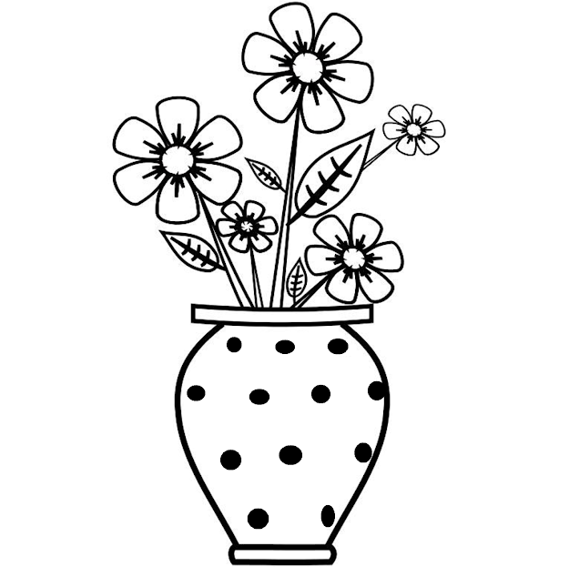 Flowers In Vase Clipart