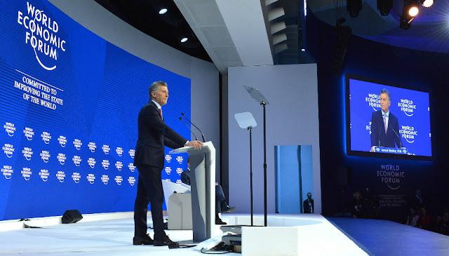 """Macri en Davos """"Hoy ningún otro país tiene tanta potencialidad como la Argentina"""""""