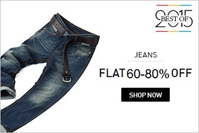 Men's Top Brand Jeans – Minimum 60% Off – upto 80% Off starts from Rs.689@ Snapdeal