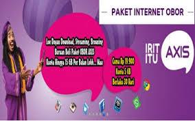 Daftar Harga Internet Murah Paket OBOR Axis