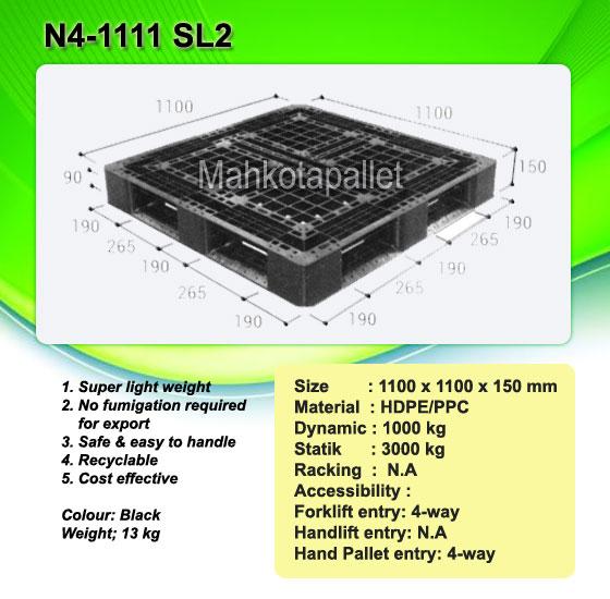 Jual Pallet Plastik N4-1111 SL2