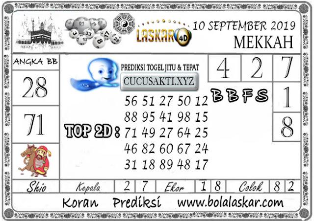 Prediksi Togel MEKKAH LASKAR4D 10 SEPTEMBER 2019