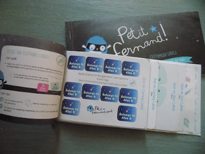 A book of Petit Fernand stick-on labels