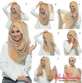 11+ Tutorial Hijab Pashmina Sifon untuk Pesta Polos dan Motif yang Modis