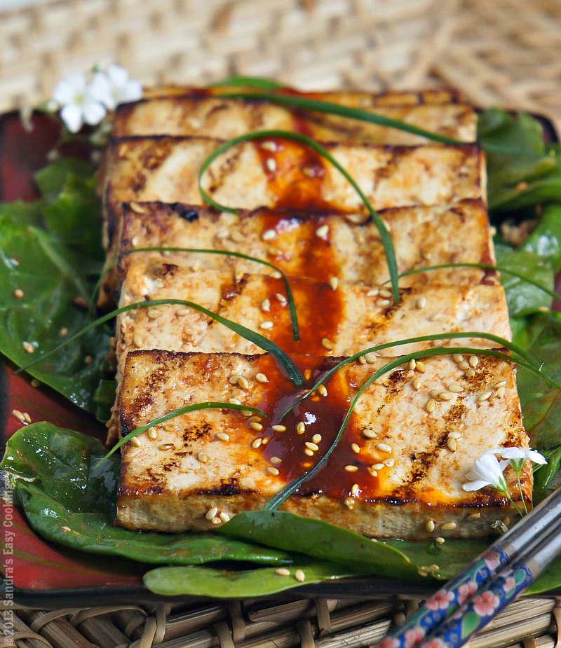 Summer recipe for Spicy Grilled Marinated Tofu