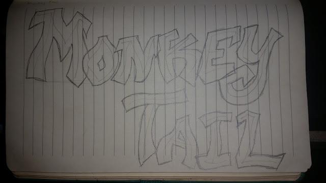 Monkey Tail Graffiti Digital Art Design (Sketch)