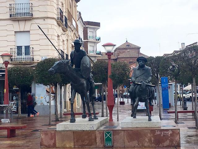 Alcázar de San Juan y Quijote Plaza de España