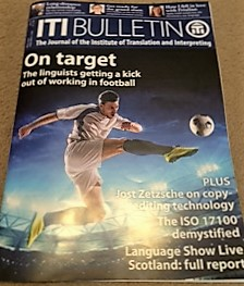 Pic of ITI's journal with footballer on cover for Euro 2016