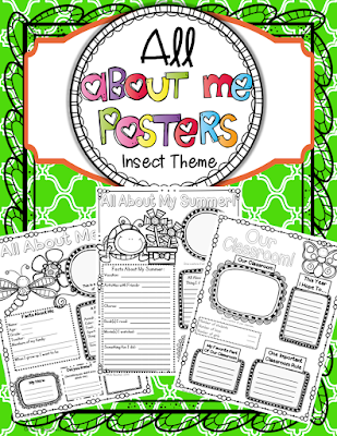 https://www.teacherspayteachers.com/Product/All-About-Me-Posters-Insect-Theme-765378
