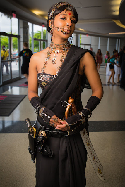 Womens steampunk cosplay - Bollywood Steampunk - Indian woman in steampunk inspired costume