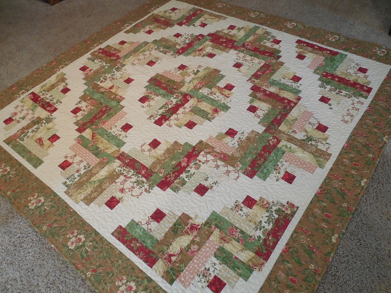 Whisper of Rose Quilts: CURVED LOG CABIN