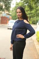 Poojita Super Cute Smile in Blue Top black Trousers at Darsakudu press meet ~ Celebrities Galleries 046.JPG