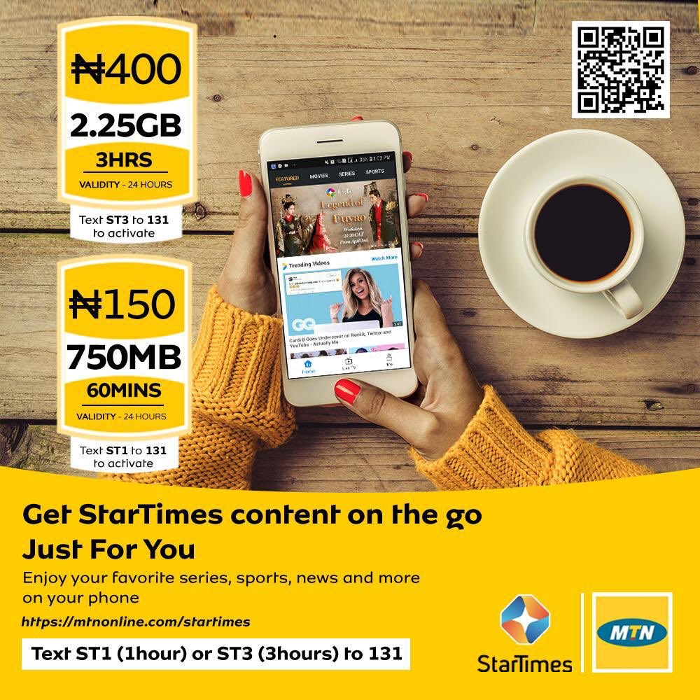 MTN Startimes Video Streaming Pack | OlatechINFO